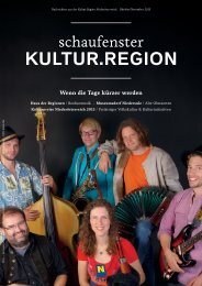 Schaufenster Kultur.Region Oktober/November 2013 - Museen ...