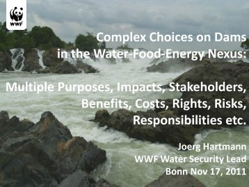 Jörg Hartmann WWF (PDF, 893 kB) - The Water, Energy and Food ...