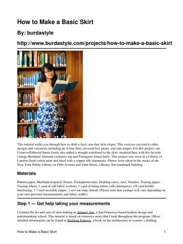 How to Make a Basic Skirt - BurdaStyle.com