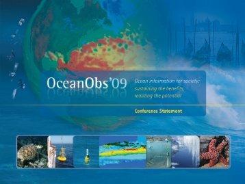 pdf version of the brochure - OceanObs'09