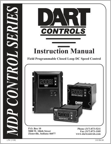 Instruction Manual - Dart Controls