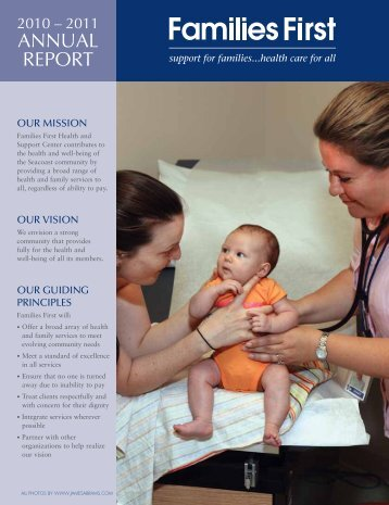 2010-2011 Annual Report - Families First Health and Support Center
