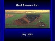 Brisas - Gold Reserve Inc.