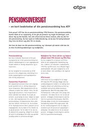 PENSIONSOVERSIGT – en kort beskrivelse af din ... - ATP