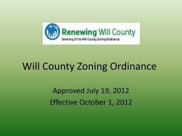 Will County Zoning Ordinance - USGBC – Illinois Chapter
