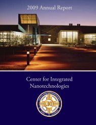 Center for Integrated Nanotechnologies 2009 Annual Report