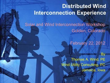Distributed Wind Integration Experience - Utility Variable Generation ...