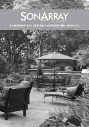 SONARRAY SR1 SYSTEM INSTRUCTION MANUAL - Sonance