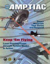AMPTIAC Quarterly, Vol. 7, No. 2, Summer 2003 - Advanced ...