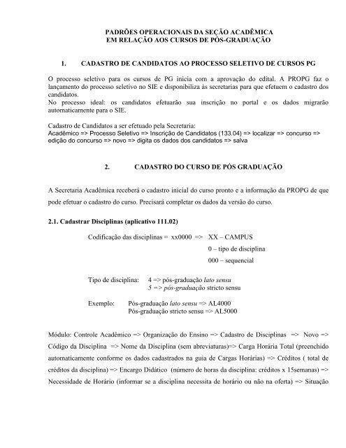 ROTINAS CTA - Reitoria