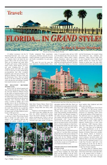 The Pier At Clearwater Beach, Florida - Vitality Magazine Cape Cod