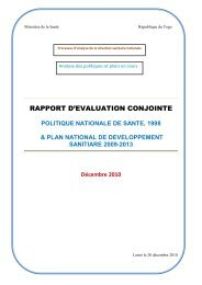rapport d'evaluation conjointe - International Health Partnership