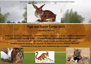 Tiger and Rabbit Turnier 2013 - Golfclub Gut Ludwigsberg