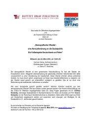 Demografischer Wandel - eine Herausforderung an die Sozialpolitik ...