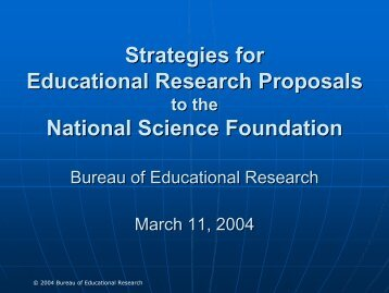 Strategies for Strategies for Educational Research Proposals ...