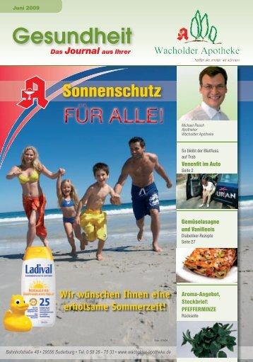 Juniausgabe 2009 als PDF - Wacholder Apotheke