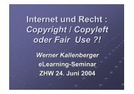 Internet und Recht : Copyright / Copyleft oder Fair Use ?! - Moodle