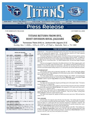 2009-11-01 Titans vs Jacksonville:Layout 1.qxd - NFL.com