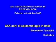anni di epidemiologia in Italia (732 Kb ) - Associazione Italiana ...