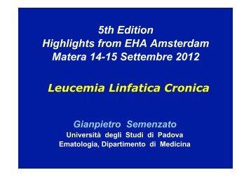 Brien, EHA Amsterdam, June 14-17 (2012) - Ematologia La Sapienza