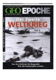 Geo Epoche: der Zweite Weltkrieg Teil 2 Ausgabe 44 vom 08.2010