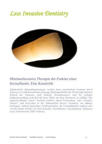 Minimalinvasive Therapie der Fraktur einer Inzisalkante - Tanaka.de