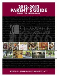 Parent Guide - Clearwater Christian College