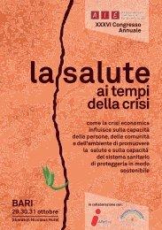 programma definitivo - Associazione Italiana Epidemiologia