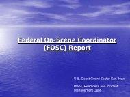 (FOSC) Report - U.S. National Response Team (NRT)