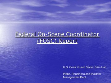 (FOSC) Report - U.S. National Response Team (NRT)