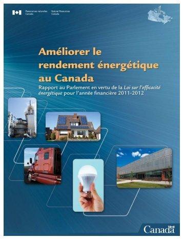 Rapport au Parlement 2011-2012 - L'Office de l'efficacité énergétique