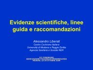 Evidenza scientifica, raccomandazioni e linee guida - Associazione ...