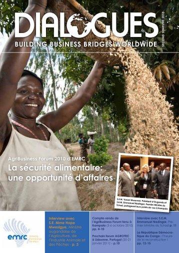 La sécurité alimentaire: une opportunité d'affaires - EMRC