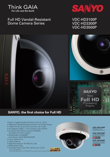 SANYO, the first choice for Full HD - SANYO Electric Co., Ltd.