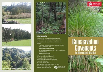 Conservation Covenants in Whangarei District