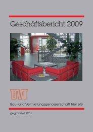 Geschäftsbericht 2009 - BVT