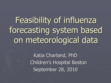 Application of NASA Data to Develop an Influenza Forecasting System