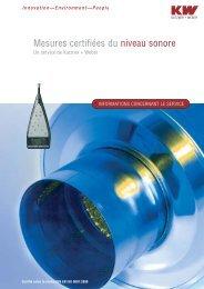 Mesures certifiées du niveau sonore - Kutzner+Weber
