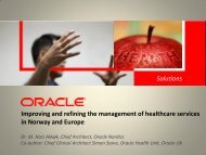 Improving and refining the management of healthcare services in ...