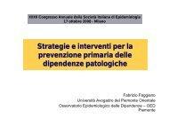 Strategie e interventi per la prevenzione primaria delle dipendenze ...