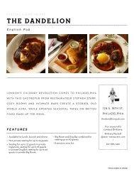 THE DANDELION - STARR Restaurants