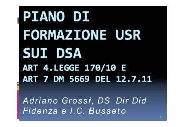 Aspetti istituzionali e scientifici - USP di Piacenza