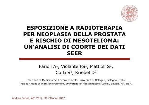 radioterapia nel tumore della prostata