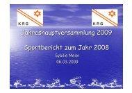 Sportbericht Saison 2008