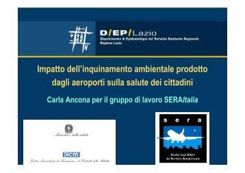 L'impatto degli aeroporti sulla salute della popolazione residente: lo ...