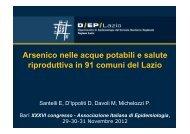 1 Arsenico nelle acque potabili e salute riproduttiva in 91 comuni del ...