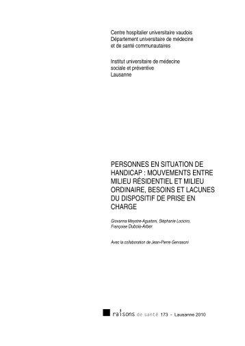 PERSONNES EN SITUATION DE HANDICAP ... - IUMSP