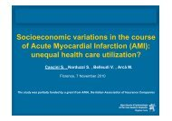 Socio-economic status and health care expenditures after acute ...