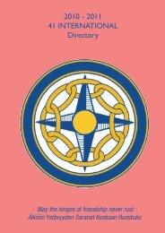 International Directory - 41 International