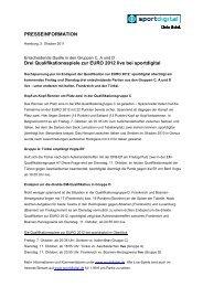 PRESSEINFORMATION Drei Qualifikationsspiele zur ... - Sportdigital